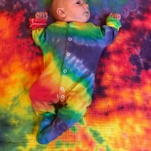 Custom Tie Dye Babygrow