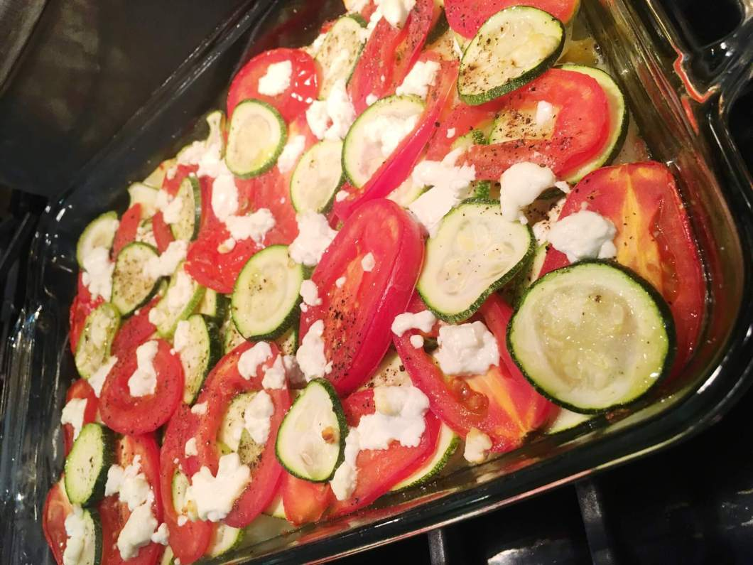 Recipe // Vegetable Casserole with Goat Cheese // www.thehisfor.com