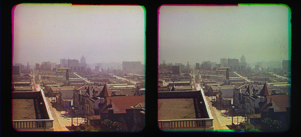 Sutter St. Looking East from Top of Majestic Hall, Oct. 1906, Frederick Eugene Ives, courtesy of Smithsonian's National Museum of Natural History