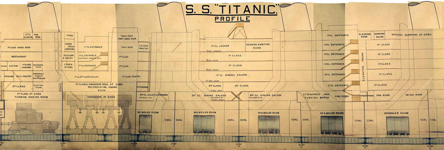 titanic class diagram 02 ford f150 radio wiring the history blog archive plan on public display for of used during board trade inquiry