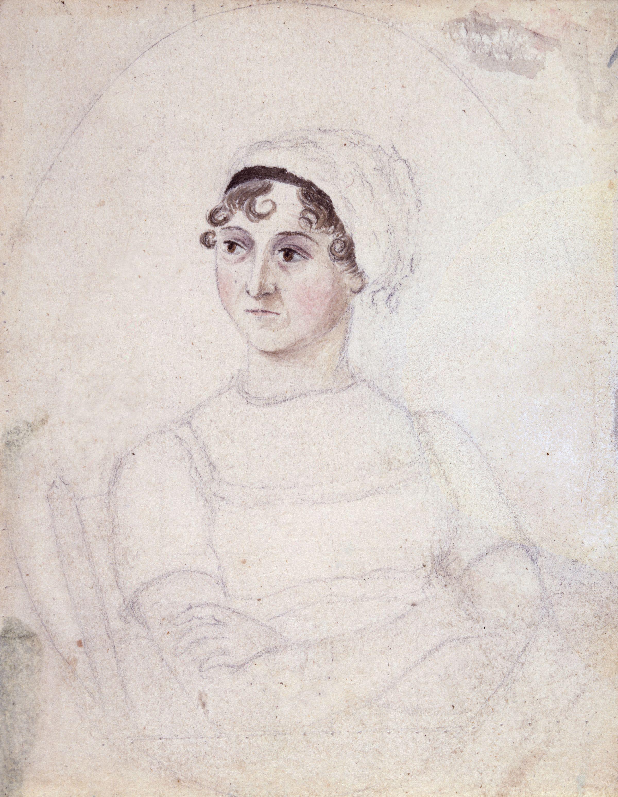 Jane Austen Cassandra Austen sketch