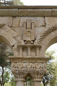 Detail depicting the castle of King Alfonso VIII, 1155-1214, probable modern replacement of the original