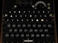 Keyboard of the 1941 Enigma machine for sale