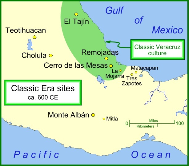 Mexican Plateau Located On A Map