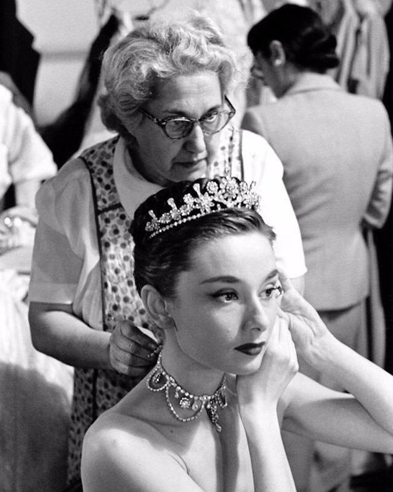 Audrey Hepburn on the set of 'Roman Holiday' (1953)