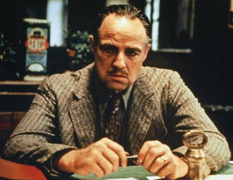 Marlon Brando as Don Corleone in 'The Godfather' (1972)