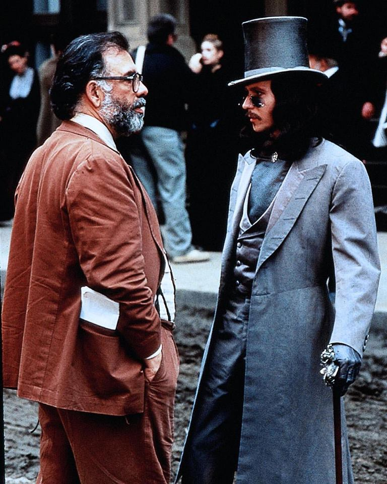 Francis Ford Coppola and Gary Oldman behind the scene of 'Bram Stoker's Dracula' (1992)