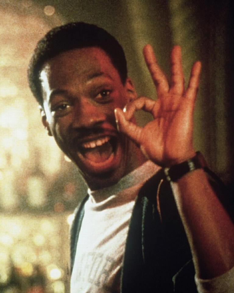 Eddie Murphy as Det. Axel Foley behind the scenes of 'Beverly Hills Cop' (1984)