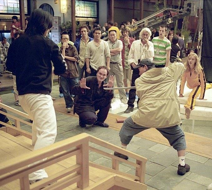 "Quentin Tarantino directing the ""The Bride vs The crazy 88"