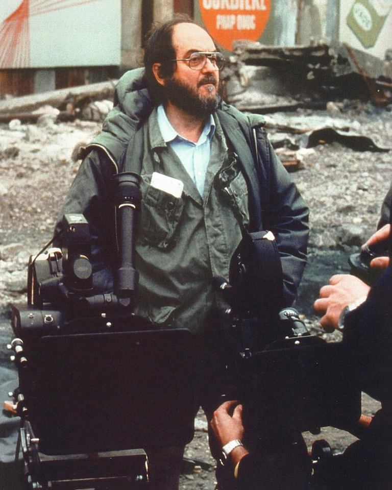 Stanley Kubrick on the set of 'Full Metal Jacket' (1987)