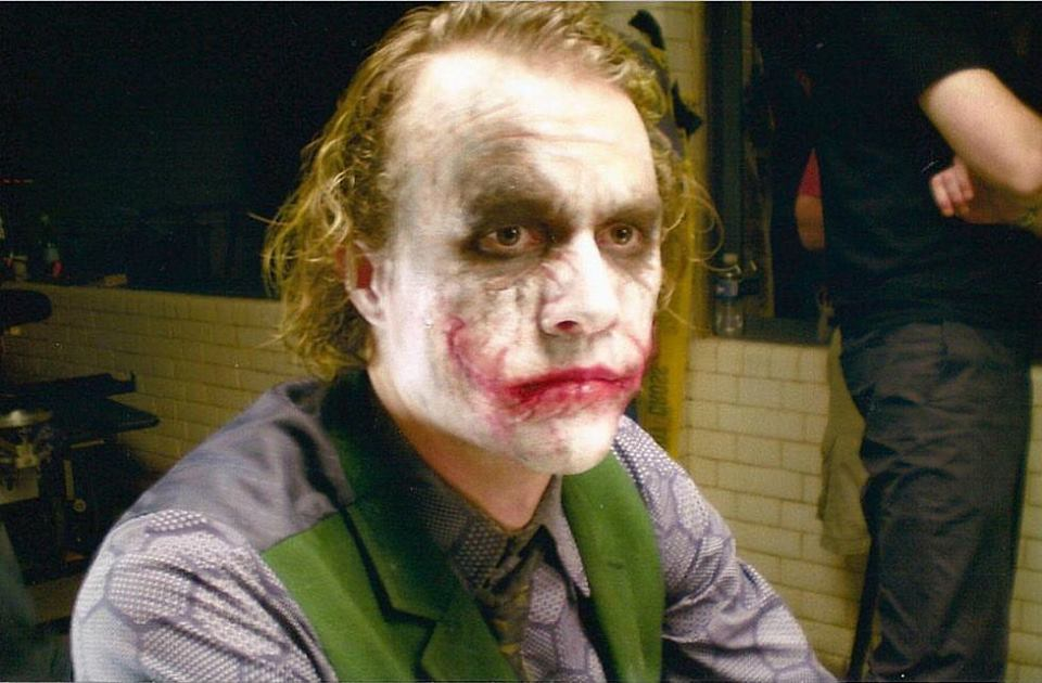 Heath Ledger behind the scenes of 'The Dark Knight' (2008)