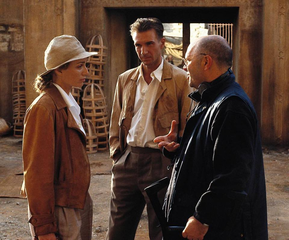 Late director Anthony Minghella with Ralph Fiennes and Kristin Scott Thomas behind the scenes of 'The English Patient' (1996)