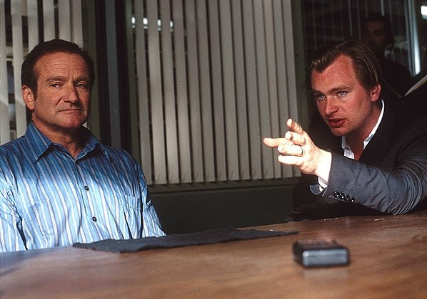 Christopher Nolan directing Robin Williams in