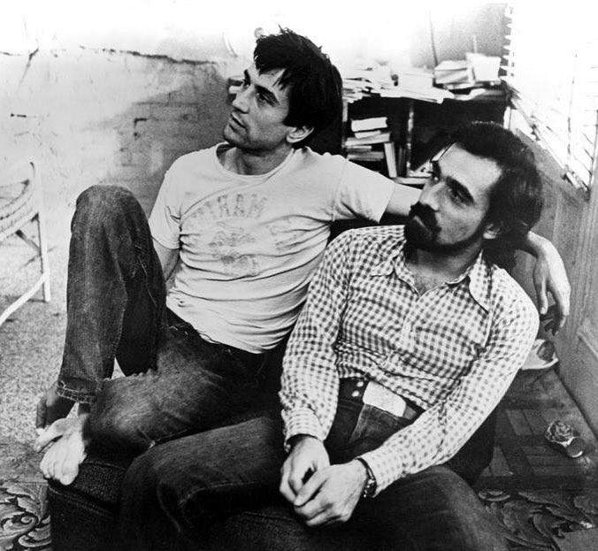 Martin Scorsese and Robert De Niro on the set of