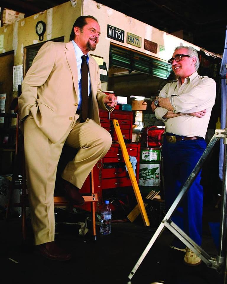 Jack Nicholson and Martin Scorsese behind the scenes of 'The Departed' (2006)