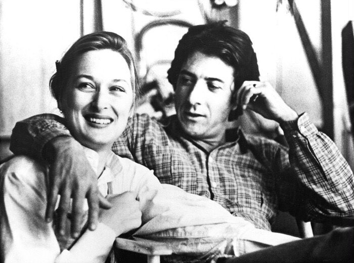 Dustin Hoffman and Meryl Streep in 'Kramer vs. Kramer' (1979). Both of them won an Oscar for their performances in this film.