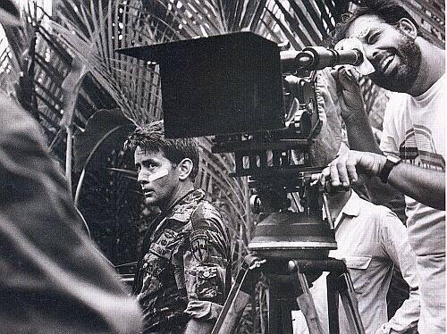 Martin Sheen behind the scenes of