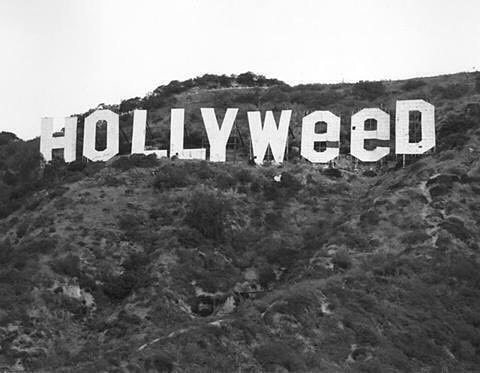 The Hollywood sign was changed by a prankster in 1976, following the passage of the state's relaxed marijuana law