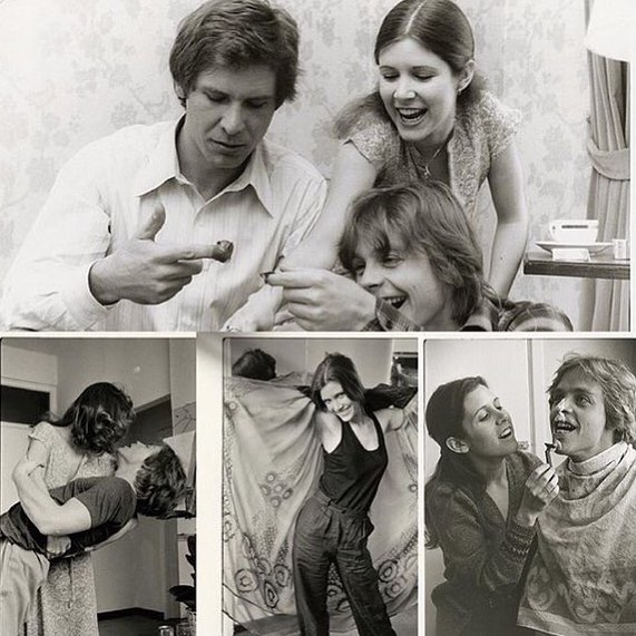 Images from Carrie Fisher's private photo collection taken during the filming of 'Star Wars' (1977)
