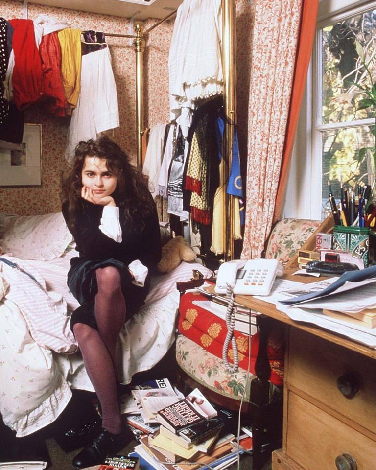 Helena Bonham Carter at home, circa 1980s