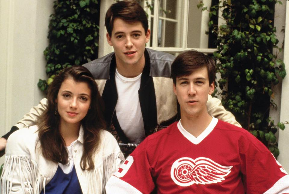 'Ferris Bueller's Day Off' (1986). Matthew Broderick, Mia Sara and Alan Ruck.