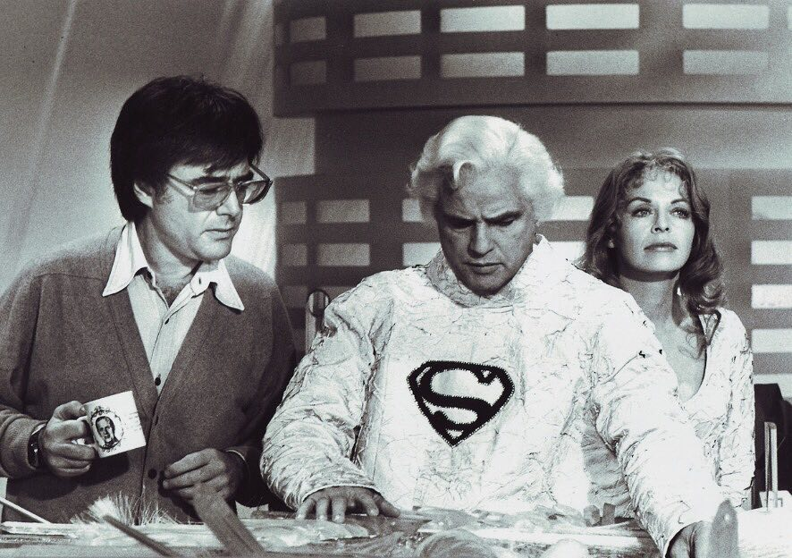 Behind the scenes: Richard Donner directs Marlon Brando and Susannah York in 'Superman' (1978)