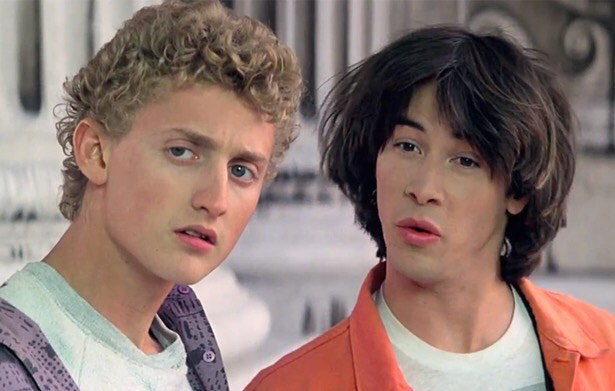 Keanu Reeves and Alex Winter in
