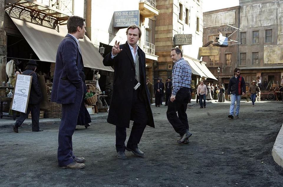 Christopher Nolan directs Christian Bale in 'The Prestige' (2006)