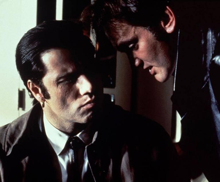 Quentin Tarantino directing John Travolta in