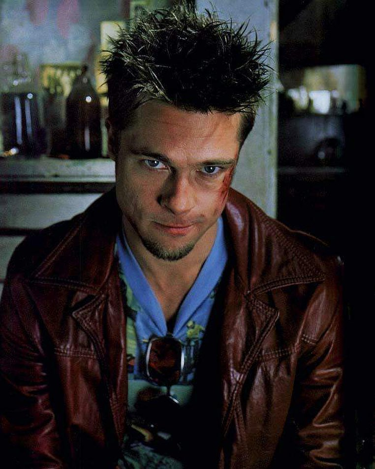 """It's only after we've lost everything that we're free to do anything"". Brad Pitt in 'Fight Club' (1999)"