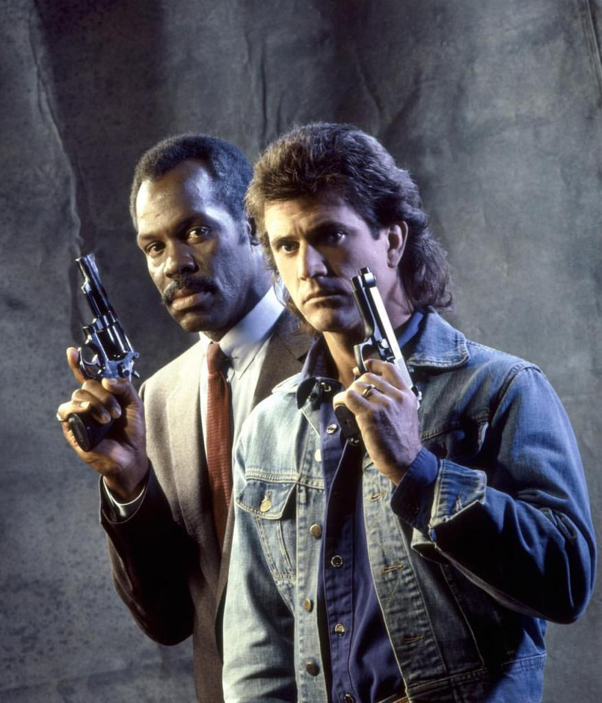 Danny Glover and Mel Gibson promo still. Directed by Richard Donner