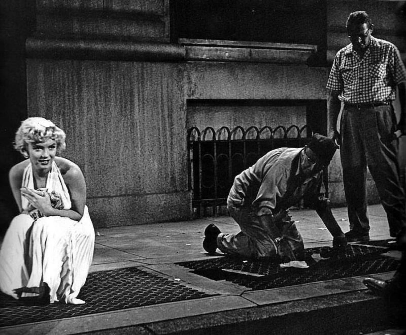 History in the making: Marilyn Monroe waiting for crew to prepare the set for the famous