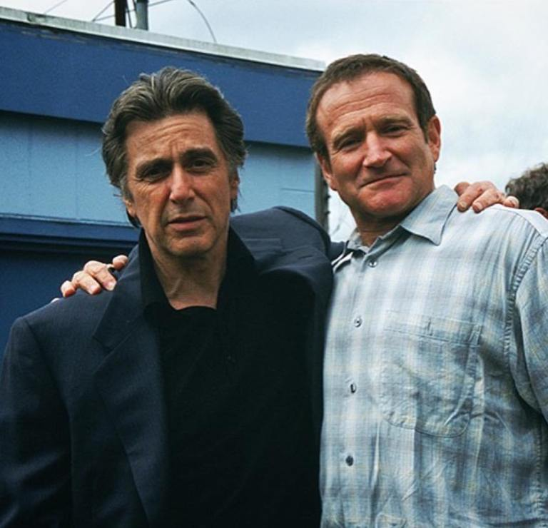 Al Pacino and Robin Williams behind the scenes of