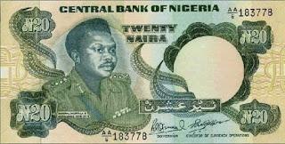 Image of Murtala Mohammed, 20 naira