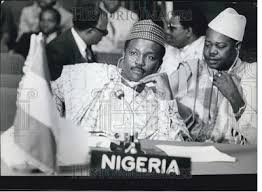 Image of General Yakubu Gowon in Kampala, Uganda, on the day he was overthrown.