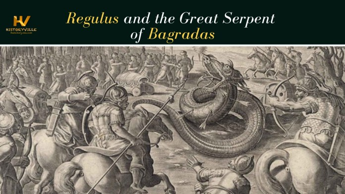 Regulus and the Great Serpent of Bagradas
