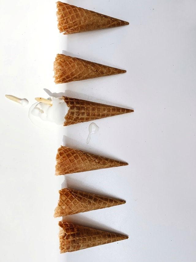 ice-cream cones