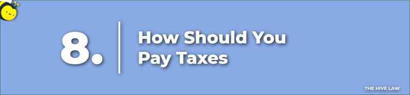 How Should You Pay Taxes - Prenuptial Agreement Checklist