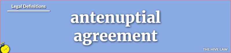 antenuptial agreement - antenuptial definition - what is an antenuptial agreement - antenuptial - antenuptial vs prenuptial