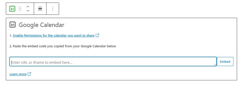 Google Calendar in WordPress