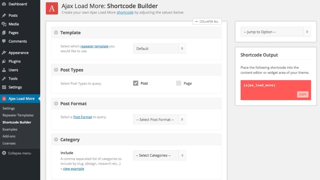 Ajax Load more WordPress