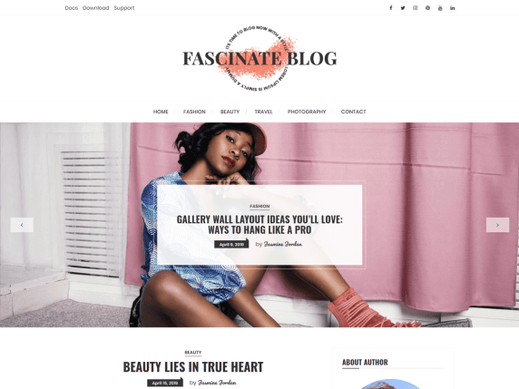fascinate Best Free Themes For WordPress