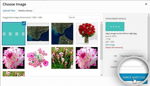 Choose Image - How to Add Header Image in WordPress