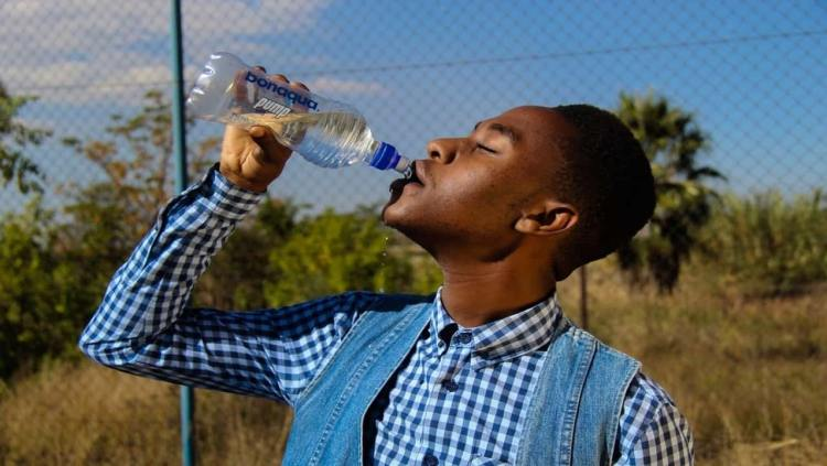 Stay hydrated by drinking water