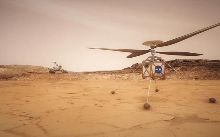 Mars mission helicopter