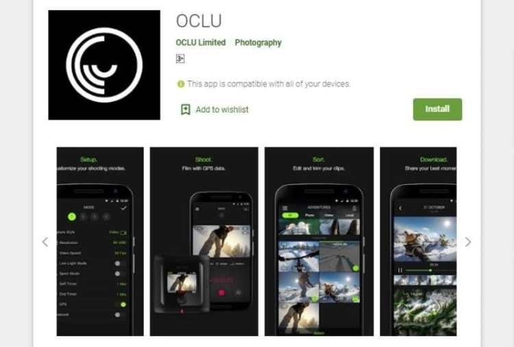 Oclu android app
