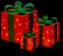 Pinch Mesh Into Light Up Presents