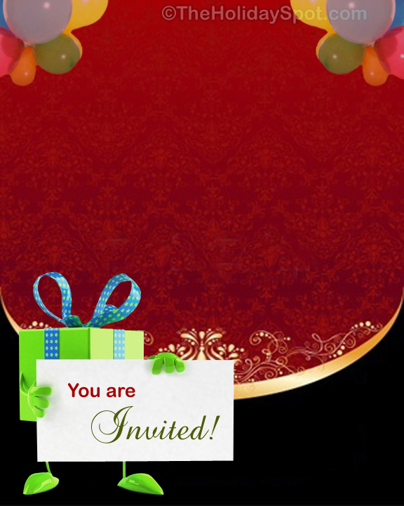 Send Invitation For Birthday Party Cards And Printouts