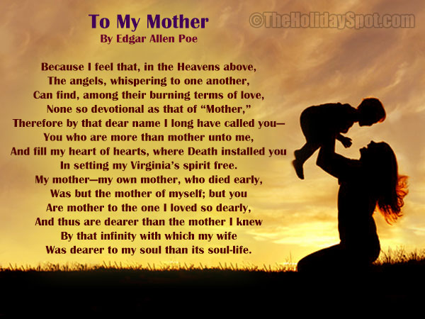 Poems and Poetries on Mothers Day
