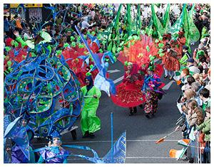 St. Patrick's Day parade at Dublin